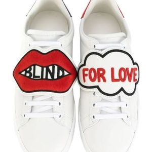 GUCCI Blind for Love Ace patch sneakers